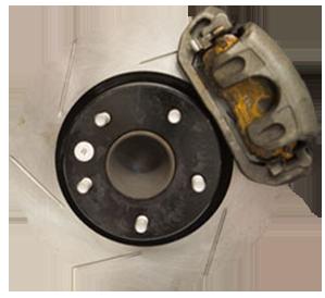 car brake disc and caliper