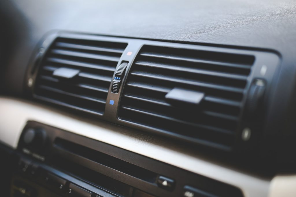 An image of air conditioning in a car