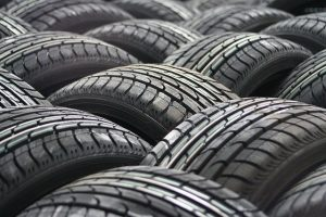 image of lots of car tyres