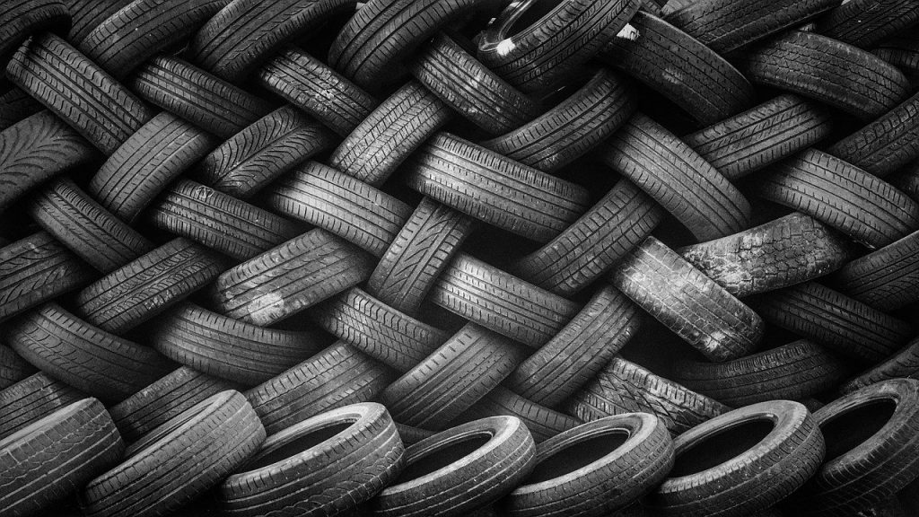 An image of a group of tyres piled on top of each other