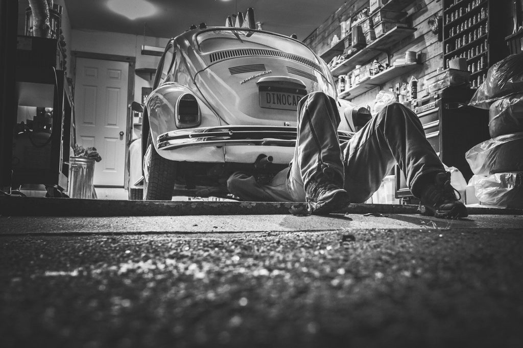 image of car being serviced
